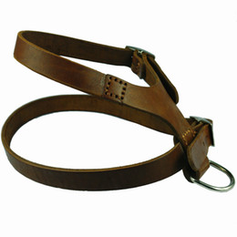 Wholesale Quality Leather Dog Harnesses - Medium Large Real Genuine Leather Dog Harness for More Breeds high Quality soft Top Leather