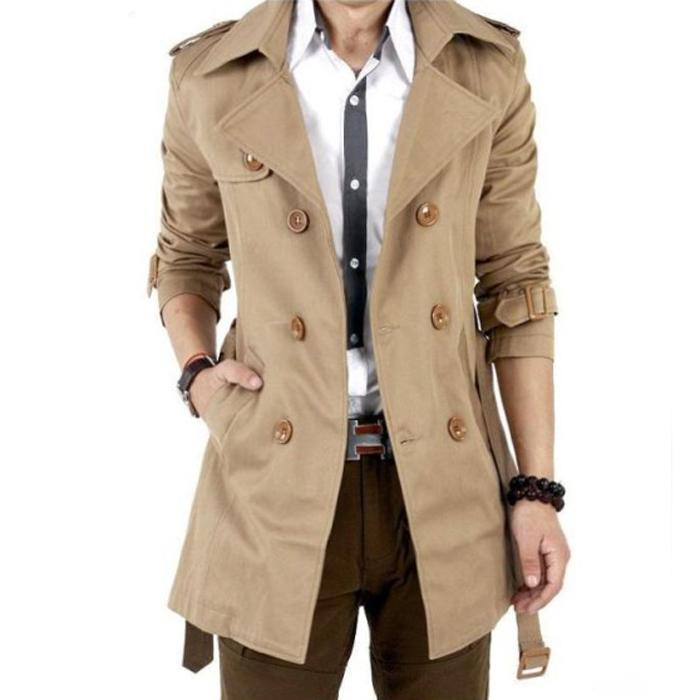 Online Cheap 2015 Spring And Autumn Trench Coat Men Double ...