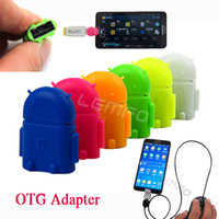Wholesale tablet otg support online – Mini Cute Female to Micro USB OTG Adapter USB Support TF Micro SD Card For Android Smart Phone Camera Mp3 Tablet PC New