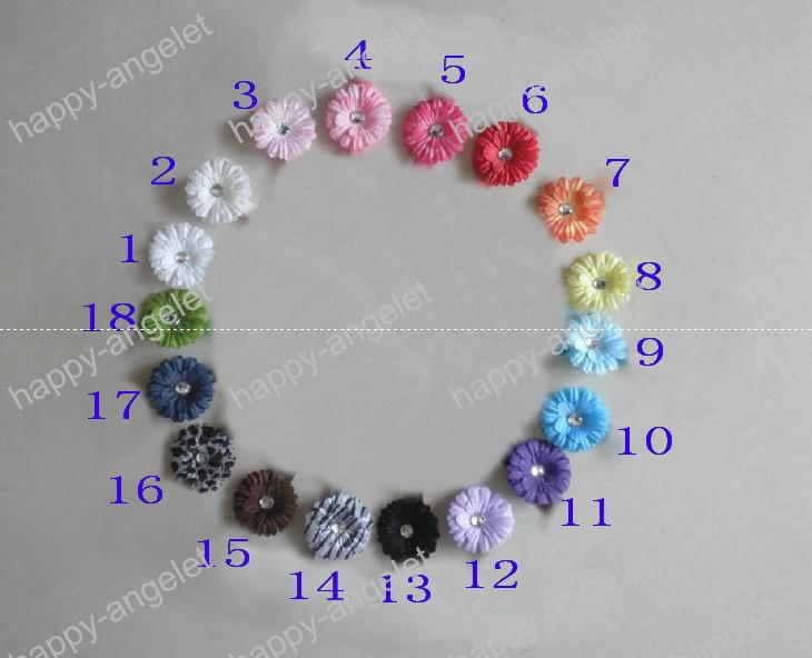 200 stks Hoge Kwaliteit 2 Inch Daisy Flower Baby Haar Bogen Kinderen Haar Clip Girl Flowers Barrettes Bands HD32
