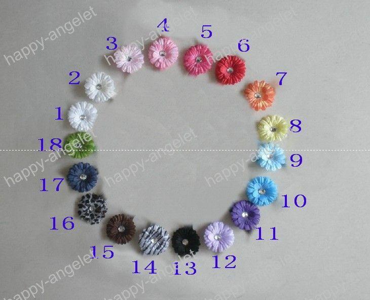 Высокое качество 2 дюйма цветок ромашка волосы младенца обхватывают зажим для волос девушки Детскую цветы заколки полос HD32
