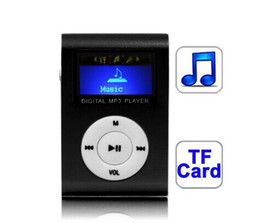 Wholesale Micro Digital Voice Recorders - Mini MP3 Player - Metal Clip Sport Digital MP3 Players w  LCD Screen & TF (Micro SD) Card Slot, Come with USB Cable Earphone & Retail Box