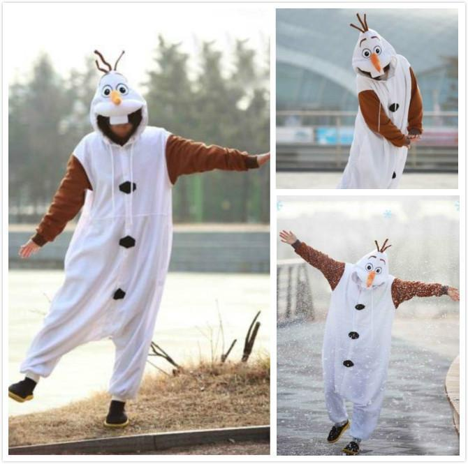 447d2af0483e Anime Cosplay Frozen Olaf Snowman Cos Pajamas Adult Women Men Unisex Onesie  Party Costumes Halloween Dresses S M L Xl Group Halloween Costumes For  Girls ...