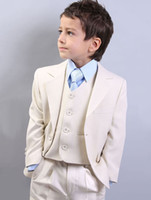 Wholesale Get Clothing - Custom Made Boys Suit Flower Children's Clothes Get Married The Groomsman Dress(Jacket+Pants+Vest+tie) Handsome Boys Dress Suit