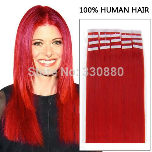Red tape in hair extensions choice image hair extension hair red tape hair extensions human indian remy adhesive glue in 100 see larger image pmusecretfo choice pmusecretfo Choice Image