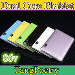Wholesale Cheap Wifi Sim Tablets - CHEAP Colorful 7 Inch 86V A23 2G GSM Phone Sim Calling Tablet PC Android 4.2 4GB 512M RAM Dual Camera Capacitive Screen Wifi PB07-13