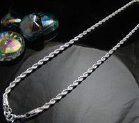 ingrosso collana della corda da 4mm-Collana degli uomini della catena della corda di CN7 4MM, lotti all'ingrosso Monili di modo 925 pendenti delle collane dei monili dell'argento sterlina