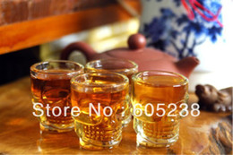 Wholesale Crystal Skull Head Whiskey Glass - Wholesale-144pieces (36sets) Creative Doomed Crystal Skull Head Shot Glass mug Vodka Whiskey Wine Novelty Cup