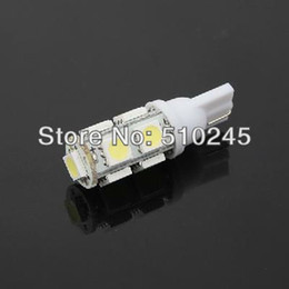 Wholesale 194 Smd - 100x Car Auto LED T10 194 W5W 9 led smd 5050 Wedge LED Light Bulb Lamp 9SMD White Green Blue Red Yellow Free shipping