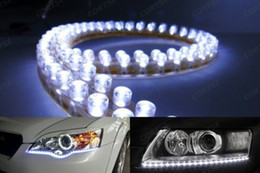 Led fog light strips canada best selling led fog light strips from 2 x 20 daytime running light white 48 led strip driving drl car fog parking signal light lamp styling mozeypictures Choice Image