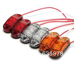 Wholesale Universal Car Side Lamps - 2X LED Side Marker Light Clearance Lamp 12V 24V E-marked DOT Car Truck Trailer UTE Free shipping