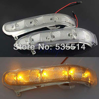 Wholesale Mercedes Benz Mirrors - Side Mirror LED Turn Signal Amber Light for 99-02 Mercedes Benz W220 W215 S CL