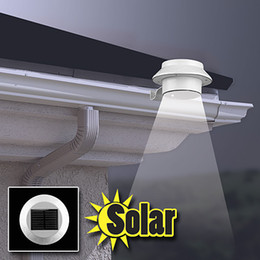 Wholesale Solar Lights Outdoor Gutter - 2015 Wholesale Free Shipping Sensor Solar Power 3 LEDs Garden Light LED Fence Lamp Solar Gutter Light IP44 Outdoor LED Lawn Light Cold White