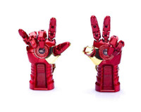 Wholesale Blister Hands - AVENGERS LED IRON MAN 3 Hand Model USB 2.0 64gb 128gb 256gbUSB 2.0 flash Memory Pen Drive Stick DHL Retail Blister Packaging free shipping