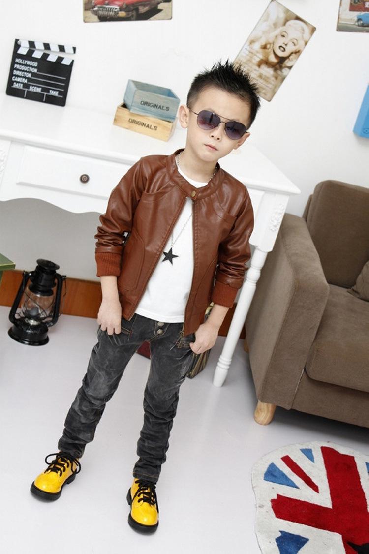 Cheap kids leather jackets