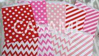 "Wholesale Chevron Paper Favor Candy Bags - paper bags Wholesale 5""*7"" 100pcs Wedding birthday Chevron polka dot Stripe horizontal foral Favor Bags Candy Paper Goods Bag kraft bags"
