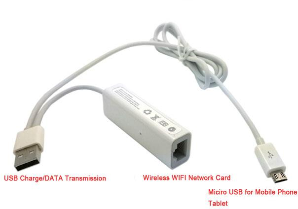 Micro Usb Wired Ethernet Network Card + Rj45 Wirelss Wifi Ap Adapter ...