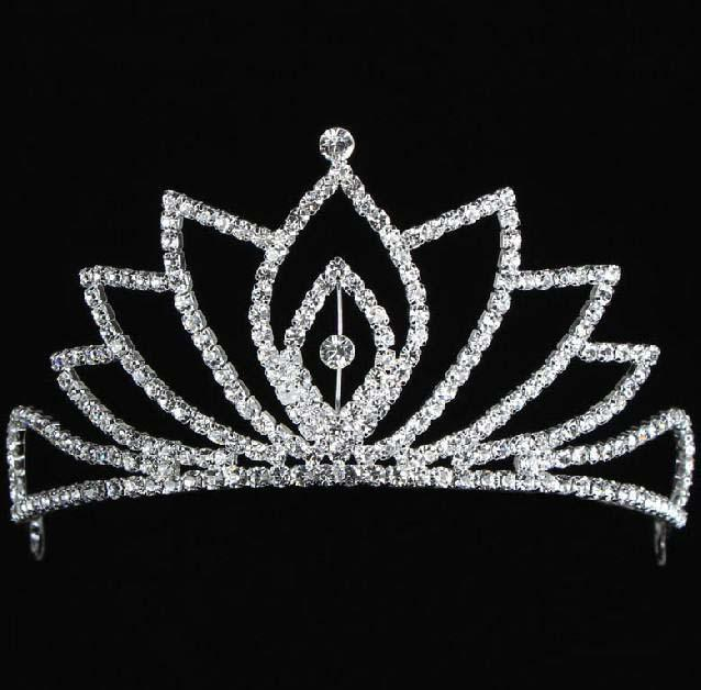 2014 In Stock Royal Crowns Shiny Crystals Real Sample Bridal Wedding Tiara Tiaras Hair Accessories 2014 head pieces Tiara Crystals Bead