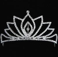 Wholesale Sample Headband - 2014 In Stock Royal Crowns Shiny Crystals Real Sample Bridal Wedding Tiara Tiaras Hair Accessories 2014 head pieces Tiara Crystals Bead