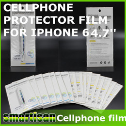 Wholesale Free Matting - High clear and matting Protection Film Cellphone Screen Front Protector with Retail Package for iphone 6 FREE SHIP 100PCS UP