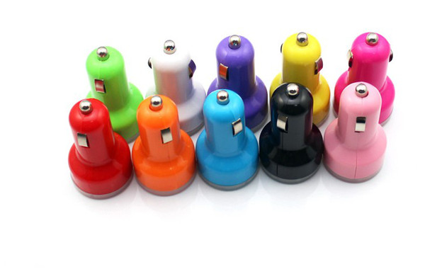 best selling Mini USB Car Charger Universal USB Adapter Colorful Car Charger for cell phone iPhone 4 4s 5 5s 5c 6 samsung s3 s4 s5 DHL free shipping