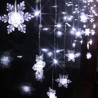 Wholesale Christmas Lights Ceiling Decorations - 104 LED lights 2m*1m Drop Ceiling Ornament Lights,Shop window Decorations Christmas window decoration lights,bar Snow Icicle light Strip
