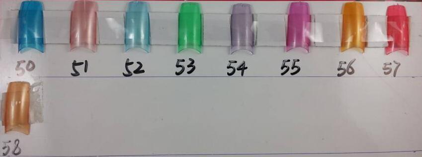 500 stks / pak Half Cover Fake False Franse Nail Art Artificial Acrylic Gel UV Manicure Set