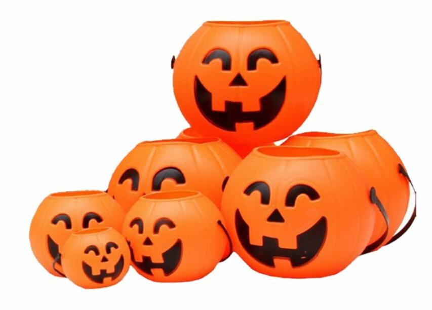 cheap led small pumpkins lights halloween pumpkin portable hollow plastic pumpkin bucket halloween props from henrry bulk shop led glow sticks rave - Plastic Pumpkins