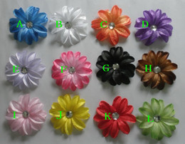 Wholesale Toddler Hair Barrettes - 26 pcs Infant toddler baby girl 2 layer Lily flowers for clip hair headband 13 Colors Free Shipping HD3224