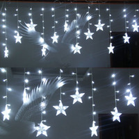 Wholesale Christmas Lights Ceiling Decorations - 120 LED lights   Bulbs 3m*0.75m Drop Ceiling Ornament Lights,Shop window Decorations Christmas lights,Bar Fairy Icicle light Strip Lighting