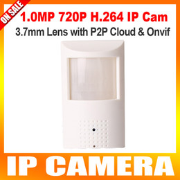 Wholesale Covert Motion Detectors - Motion Detector HD PIR STYL HD H.264 720P IP Hidden Covert Camera wired IP Camera 1.0Megapixel P2P Function Security Network Cameras Onvif