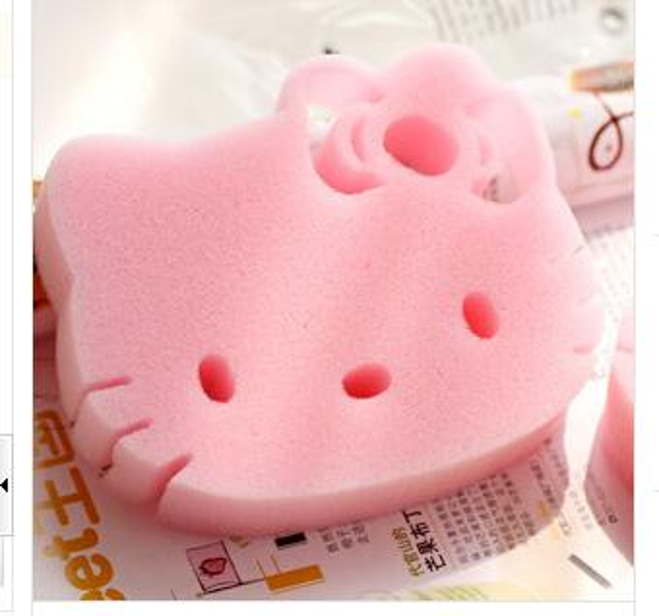 Free shipping Hello Kitty for kitchen Dish sponge sponge to wipe microfiber cloth 20pcs/lot