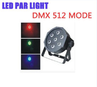 Wholesale Dj Par Can - X8 Factory Price free shipping by DHL NEWest and HOT Slim Led Par 7pcs*10W 4IN1 RGB 21W LED Stage Light DMX Par can American DJ stage lights