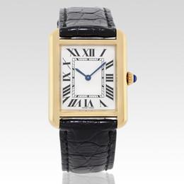 Опт Горячие продажи Мужчины Женщины моды золото корпус белый циферблат часы кварцевые платье часы кожаный ремешок 07-2