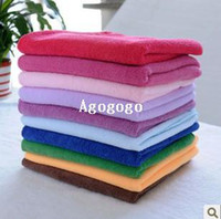 Wholesale Car Waxes - Free Shipping 10pcs lot 30cmx30cm Microfiber Car Cleaning Towel Microfibre Detailing Polishing Scrubing Waxing Cloth Hand Towel
