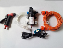 Wholesale 12v High Pressure Washer - FREE SHIPPING 2014 Car electric 60w high pressure washing device portable high pressure car washer pump 12v trainborn carwash