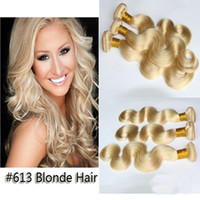 Wholesale Discount Remy Hair Mix - 30% Discount 100% Brazilian Virgin Hair Weft Remy Hair Extension Body Wave Hair Blonde mixed Length 3pcs Lot Cheap Hair Grade 6A