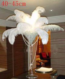 $enCountryForm.capitalKeyWord Canada - White Ostrich Fluffy Feathers Wedding Party Stage Decor Feather Ostrich Trim Boa Diy Feathers 50PCS 16-18Inch 40-45CM