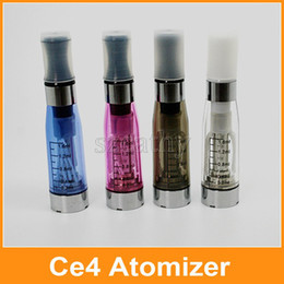 Wholesale E Cigarette Cartomizer Kit - CE4 Clearomizer Atomizer Cartomizer For Ego Starter Kit E Cig E-cigarette Capacity 1.6ml Ego Atomizers Via DHL
