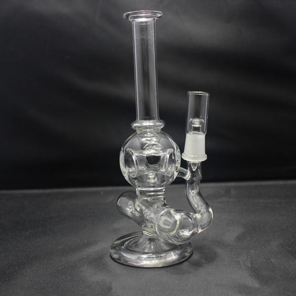 Bong de vidrio con Perc Hollow Orb estilo difusor concentrador Bubbler Mini plataforma petrolera vienen con domo y uñas 14.5mm articulación masculina
