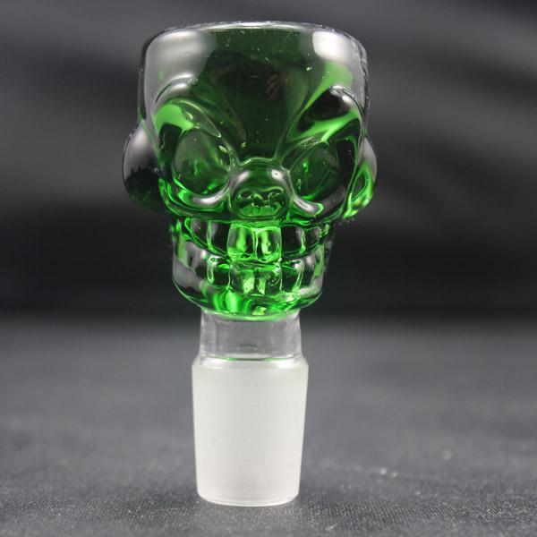 14.5 i 18.8mm Kolorowe szklane czaszki Kształt Miska do rur do palenia Bong Mini Rig Oil PerColator Bubbler Różne kolor opcjonalne
