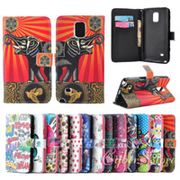 Wholesale Aztec Leather Case - For Samsung Note 4 Owl Aztec Stripe Design Wallet Leather Case Cover With Credit Card Stand Holder for Galaxy Note4
