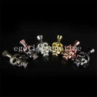 Wholesale Dct Pipe - E-Cigarette EGO Atomizer Skull Mouthpiece Metal Skull Drip Tip Skull Mouthpiece for Vivi Nova 510 DCT Cartomizer pipe mod Skull Drip Tips