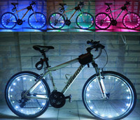 Wholesale light road bike wheels online - 20 LED Colorful Bicycle Flash LED Light Mountain Road Bike Cycling Wheel Spoke led lamps m String Wire Lamp hot wheel lighting