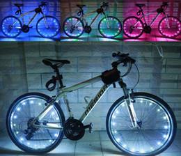 Luces de alambre de bicicleta online-20 LED de colores de la bicicleta de destello de luz LED Mountain Road Bike rueda de ciclismo Spoke llevó lámparas 2m String Wire lámpara de la rueda caliente de iluminación