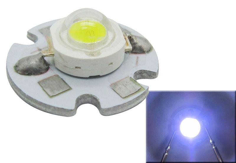 1W 3W białe / chłodne białe światło LED 6000-6500K / 10000K / 15000K / 20000K 16mm 3.2-3.8vdc 20 sztuk / partia