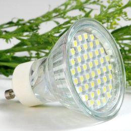 Wholesale Glass Leds - Gu10 3W Quartz Glass LED Spot Lamp Body Materials 250Lm High quality SMD5050 LEDs LED Aluminum Spotlight