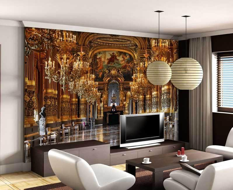 Luxury Embossed Mura Wallpaper 3d Palace Classic Tv Sofa Background 3d Abstract Murals Photo