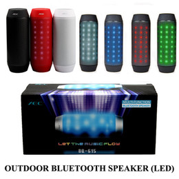Wholesale Mini Speaker Portable Bike - BQ-615 LED Light Speaker Portable Bike Bluetooth Stereo Mini Hands-free Wireless Loundspeaker TF Card FM Radio MP3 For Phone PC Free DHL 5pc