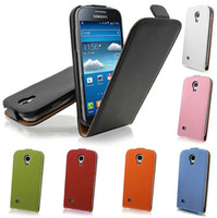 Wholesale Vertical Flip Leather Case S3 - Leather Flip Case Luxury Vertical Cover Shell for iPhone 4 4G 4s 5 5G 5S 5C Samsung Galaxy S3 i9300 S4 i9500 PU Leather Case